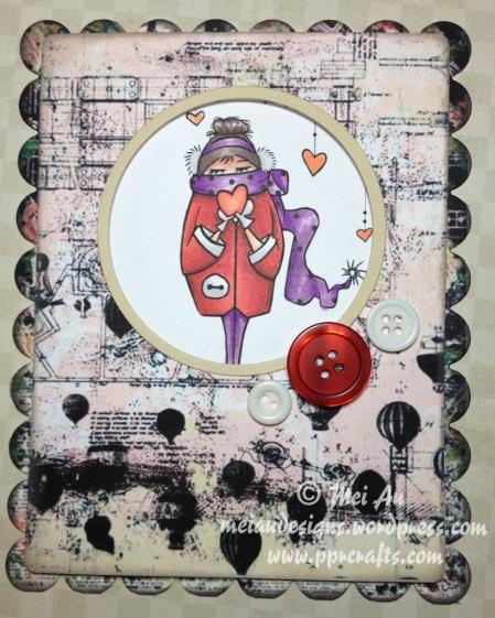 Sami Stamps Warm Love Tsunami Rose
