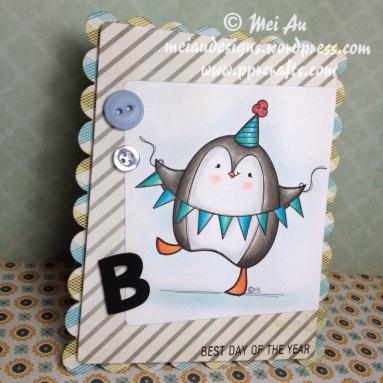 2 Cute Ink Penguin Celebration