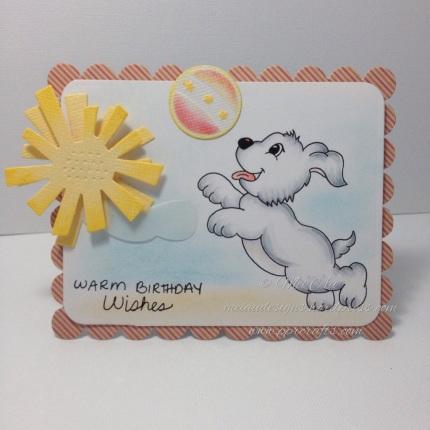 Stamp Art by Kathryn, Happy Puppy, Spellbinders Day Dreams