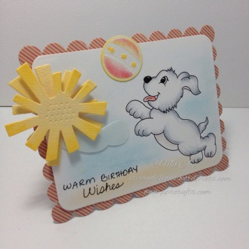Stamp Art by Kathryn, Happy Puppy, Spellbinders Day Dreams