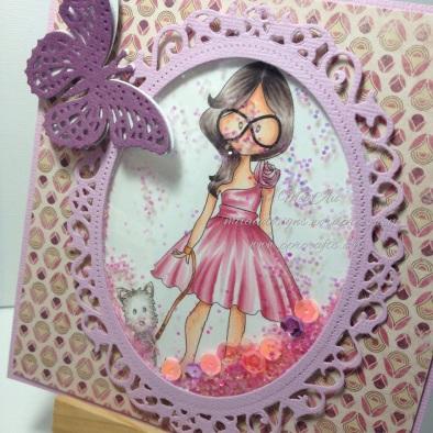 Polka Doodles, Walkies, Spellbinders, Flutters, Floral Ovals, MME