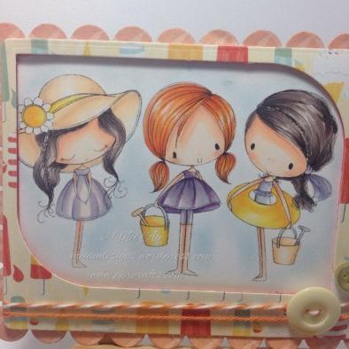 ADU, All Dressed Up, 3 Little Summer Girls, MME, Spellbinders