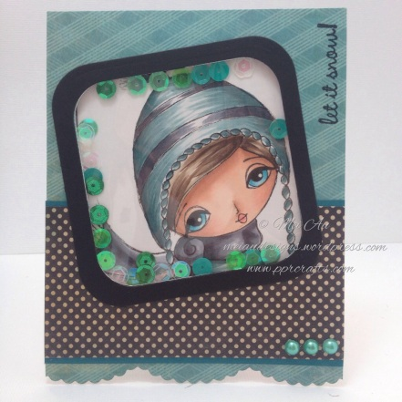 Aidynn's Winter Hat, Dilly Beans, Shaker Card