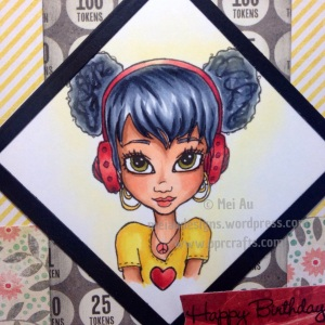 Faery Ink, Hip Hop Headphones Adorable Afro Puffs, MME, MFT Blueprints 13