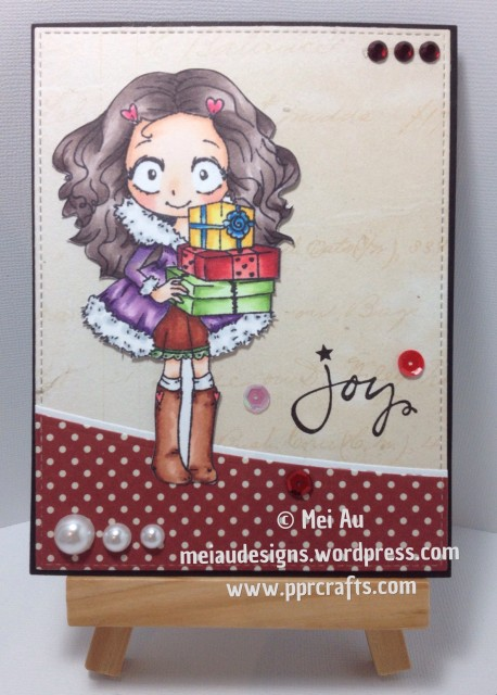 TGF, The Greeting Farm, Dollie with Gifts, MME, Spellbinders