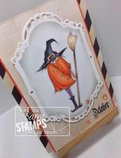 Halloween Girls, MME, Sami Stamps, Spellbinders, Witch Girl