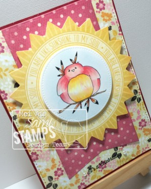 Sami Stamps, Lovely Fall Friends, Chubby Native Bird