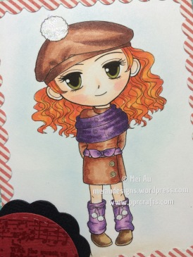 Winter Girl with Hat and Scarf , Artbymira, WRMK Dies