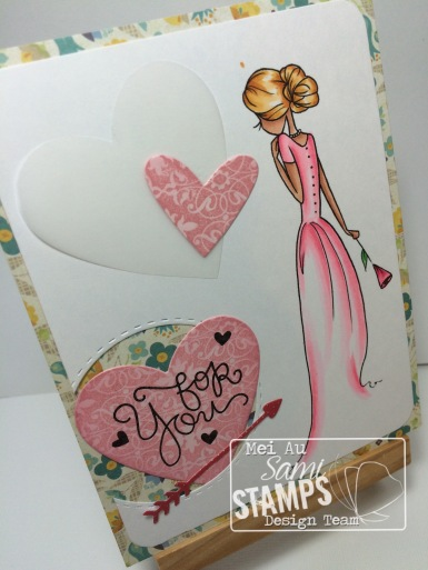 Sami Stamps, Floral Bride, Single Rose Bride, MFT Die, Spellbinders