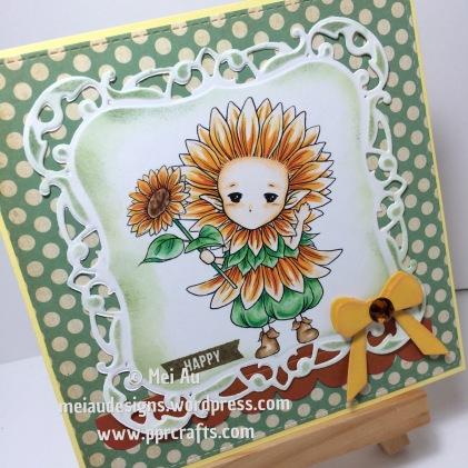 Aurora Wings, Sunflower Sprite, Spellbinders Decorative Labels One, MFT Dies Wreath, Blueprints